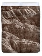 Badlands Light Bw Duvet Cover