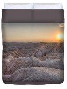 Badlands Overlook Sunset Duvet Cover