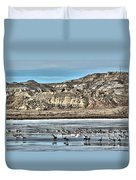 Badlands Spring Thaw Duvet Cover