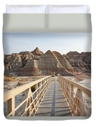 Badlands Walkway Duvet Cover