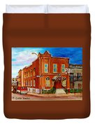 Bagg And Clark Street Synagogue Duvet Cover