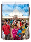 Baha'i House Of Worship - New Delhi - India Duvet Cover