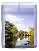 Bakewell Bridge - Over The River Wye Duvet Cover