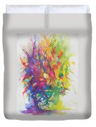 Balance Brings Happiness Duvet Cover