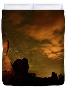 Balanced Rock And The Milky Way Duvet Cover