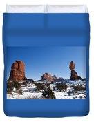 Balanced Rock Arches National Park Utah Duvet Cover