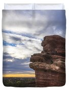 Balanced Rock At Sunrise - Garden Of The Gods - Colorado Springs Duvet Cover