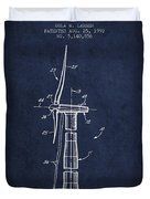 Balancing Of Wind Turbines Patent From 1992 - Navy Blue Duvet Cover