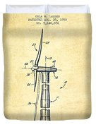 Balancing Of Wind Turbines Patent From 1992 - Vintage Duvet Cover