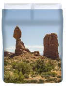 Balancing Rock In Arches Duvet Cover