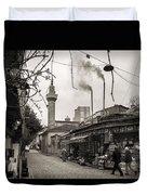 Balat Neighborhood In Istanbul Duvet Cover