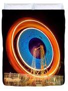 Balboa Fun Zone Ferris Wheel At Night Picture Duvet Cover