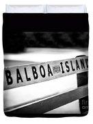 Balboa Island Bench In Newport Beach California Duvet Cover