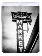 Balboa Market Sign Orange County California Photo Duvet Cover