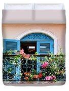 Balcony Blue By Diana Sainz Duvet Cover
