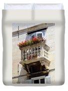 Balcony In Split Croatia Duvet Cover