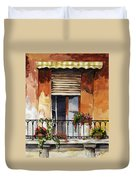Balcony Of Ancona Duvet Cover