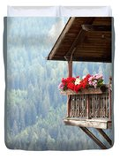 Balcony Overlooking The Forest Duvet Cover