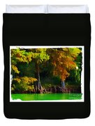 Bald Cypress 3 - Digital Effect Duvet Cover