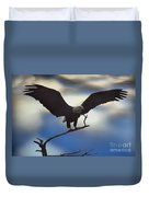 Bald Eagle And Clouds Duvet Cover