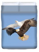 Bald Eagle And Greater Black-backed Gull Duvet Cover