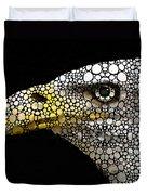 Bald Eagle Art - Eagle Eye - Stone Rock'd Art Duvet Cover by Sharon Cummings