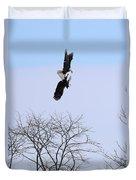 Bald Eagle Courtship Ritual  1337 Duvet Cover