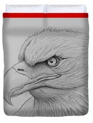 Bald Eagle Drawing Duvet Cover