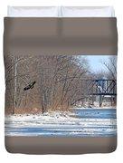 Bald Eagle Fledgling Near Ludwig Mill 2576 Duvet Cover