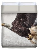 Bald Eagle Fly By Duvet Cover