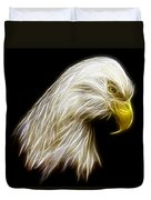 Bald Eagle Fractal Duvet Cover