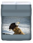 Bald Eagle Homer Spit Alaska Duvet Cover