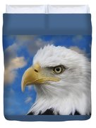 Bald Eagle In The Clouds Duvet Cover