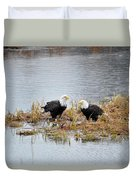 Bald Eagle Pair Duvet Cover