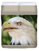 American Bald Eagle Portrait - Bright Eye Duvet Cover