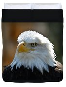 Bald Eagle Pose Duvet Cover