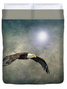 Bald Eagle Textured Art Duvet Cover