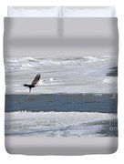 Bald Eagle With Fish 3655 Duvet Cover