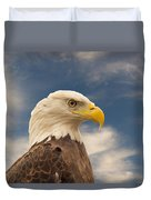 Bald Eagle With Piercing Eyes 1 Duvet Cover