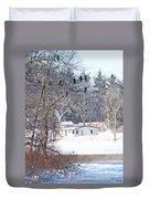 Bald Eagles In Tree In Grand Rapids Ohio 3996 Duvet Cover