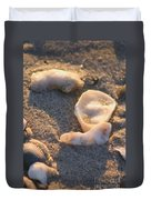 Bald Head Island Shells Duvet Cover