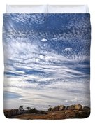 Bald Rock Glacial Erratics Duvet Cover