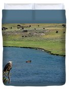Baldy And Bull Duvet Cover
