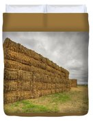 Bales Of Hay On Farmland 4 Duvet Cover