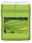 Bali Indonesia Rice Fields Duvet Cover