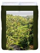 Bali Sayan Rice Terraces Duvet Cover