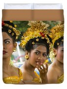 Balinese Dancers Duvet Cover by David Smith