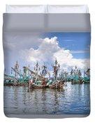 Balinese Fishing Boats Duvet Cover
