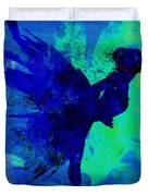 Ballerina On Stage Watercolor 2 Duvet Cover