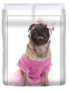 Ballerina Pug Dog Duvet Cover